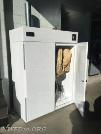 PPE Drying Cabinet purchased by the NWFD Auxiliary
