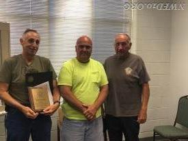 President Fritz recognizes Ronald Warehime and Richard Warrenfeltz for their service to the Community