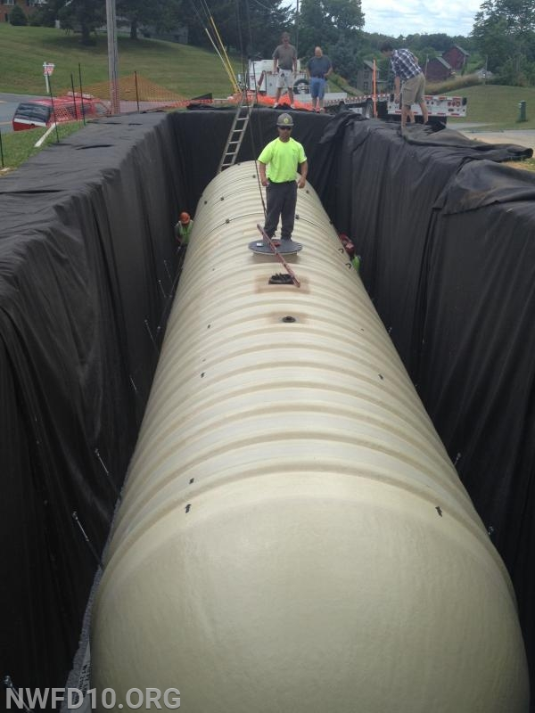 A 30,000 gallon underground water tank - Uniontown Road