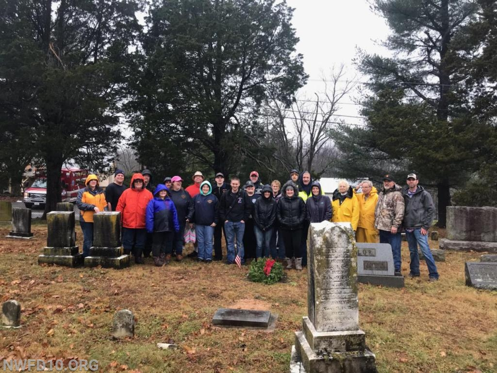 Members from the New Windsor and Union Bridge Fire Departments participate in Wreaths Across America at a local cemetery.  Photo provided by Steve Kreimer