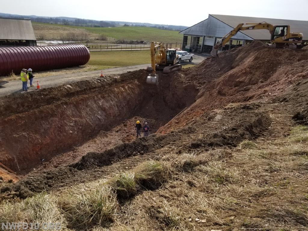 The original excavation.