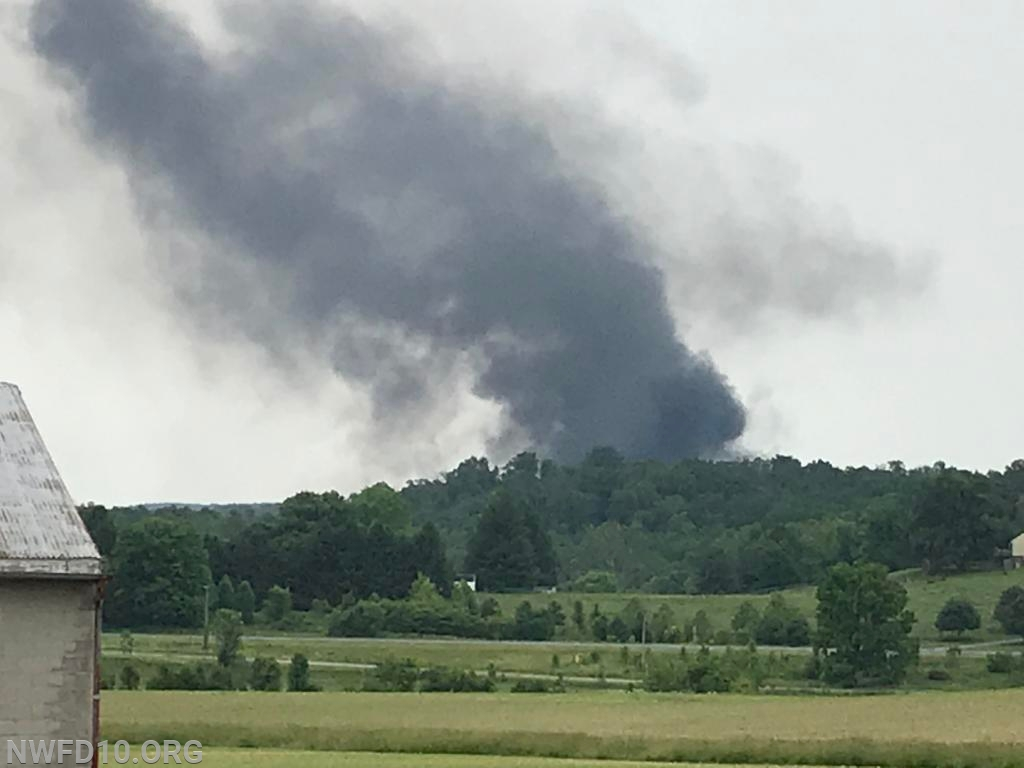 Smoke visible from Clear Ridge Road Photo by Dennis Brothers